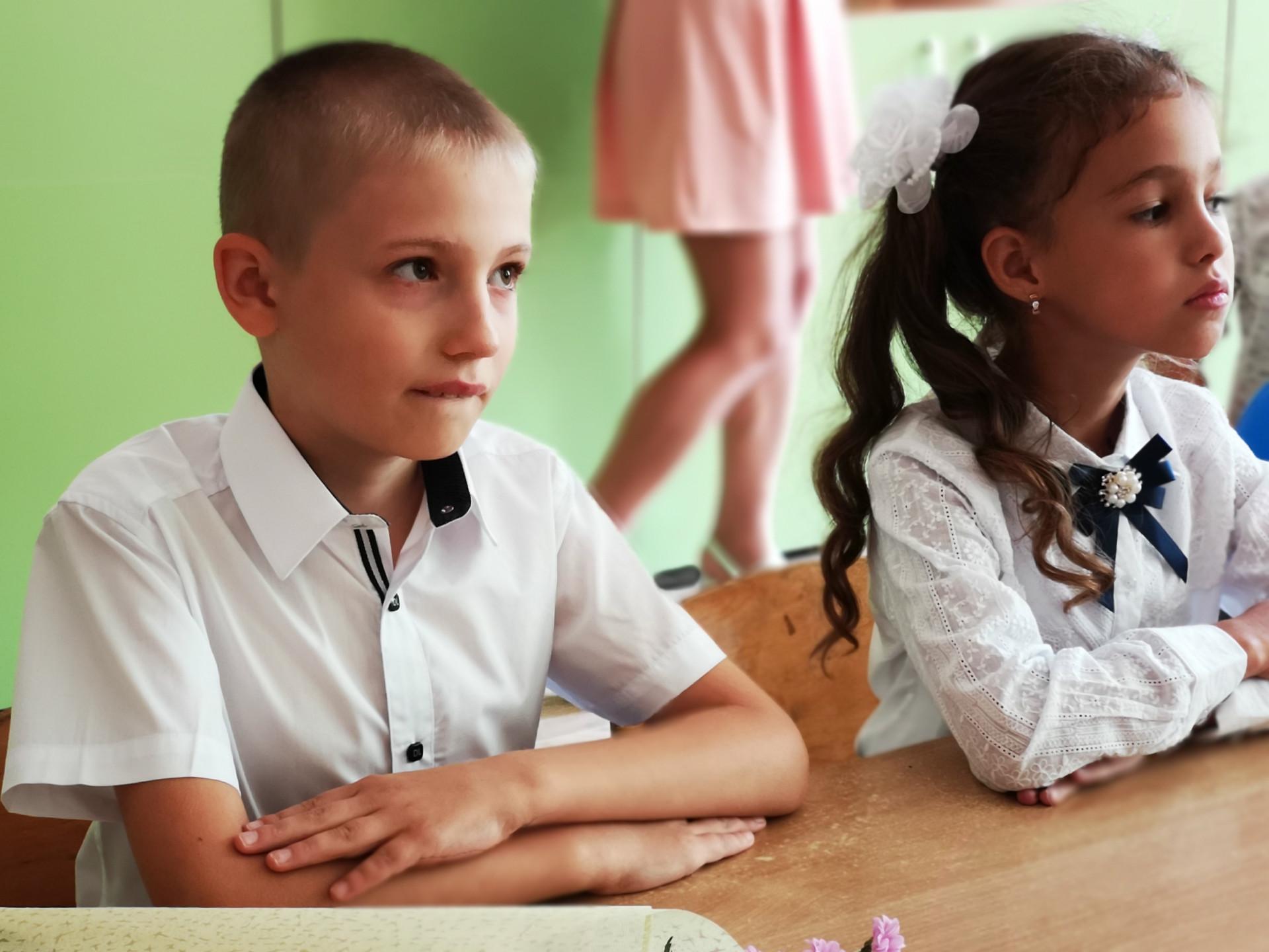 Саша в первом классе общеобразовательной школы